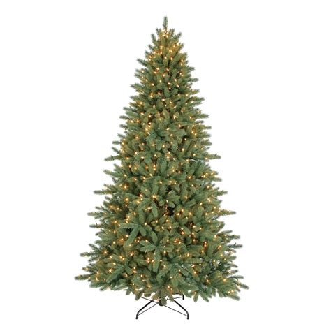 7 5 ft pre lit noble pine artificial christmas tree with