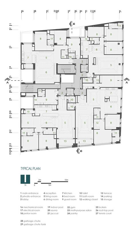 residential building floor plan gallery of sipan residential building ryra studio 20