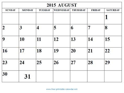 Duke Weekend Mba Calendar by Free Printable Calendar 2018 Free Printable Calendar August