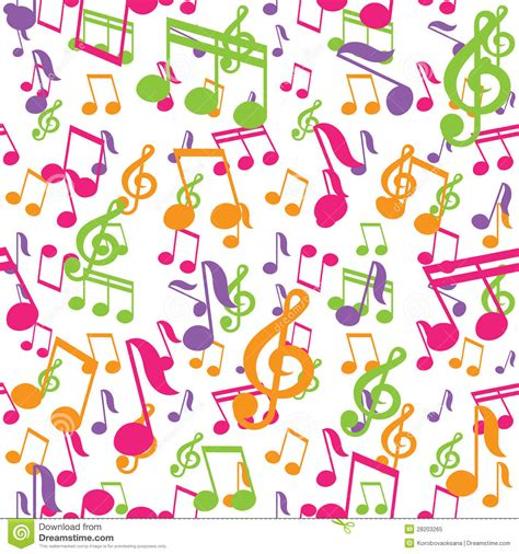 vector pattern with music notes vector seamless pattern with music notes royalty free