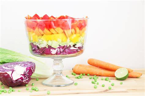 layered rainbow healthy grocery layered rainbow salad