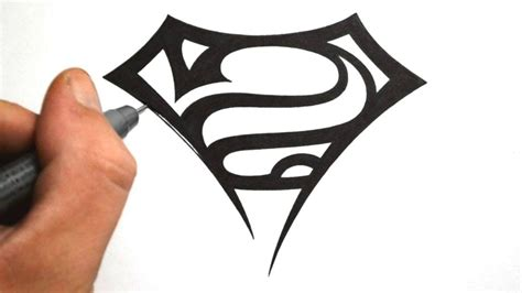tribal superman tattoo pictures easy cool drawing designs drawing gallery