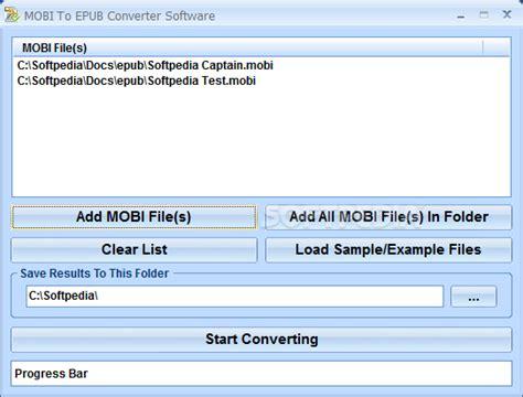 format mobi or epub mobi to epub converter software download