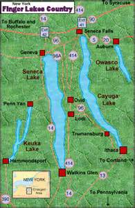 Finger Lakes New York Map by New York Wine Country Vacation Finger Lakes Vacation Rentals