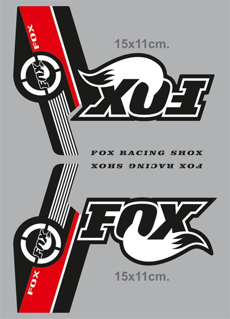 Fahrrad Aufkleber Fox by Stickers Fox Racing Shox Forks Mountain Bike