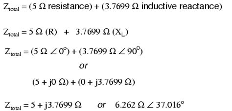 inductive reactance is related to series resistor inductor circuits