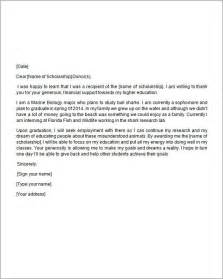 Scholarship Thank You Letter Templates Search Results For How To Write A Scholarship