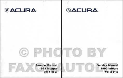 service and repair manuals 1993 acura integra security system 1993 acura integra factory reprint repair shop manual set