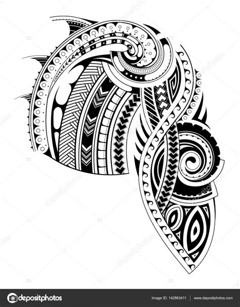 maori style sleeve tattoo template stock vector 169 akv lv