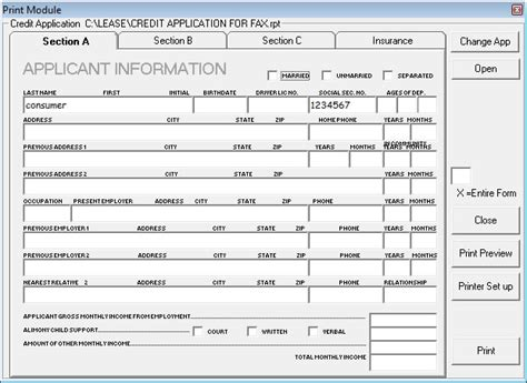 Car Dealership Credit Application Template auto credit app images