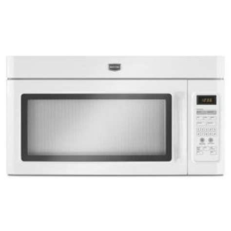 maytag 1 6 cu ft the range microwave in white