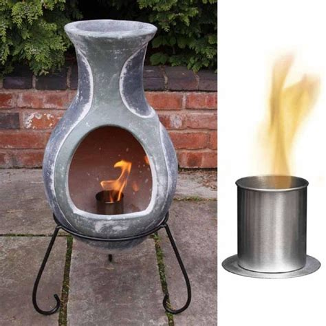 chiminea indoor fireplace bio ethanol burner fire bowl chiminea burner indoor or