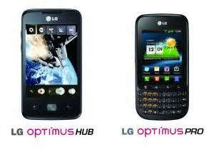 Hp Lg C660 lg optimus pro c660 and lg optimus hub e510 android