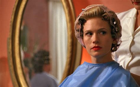 video man having hair set in curlers 19 life truths betty draper taught us on quot mad men quot