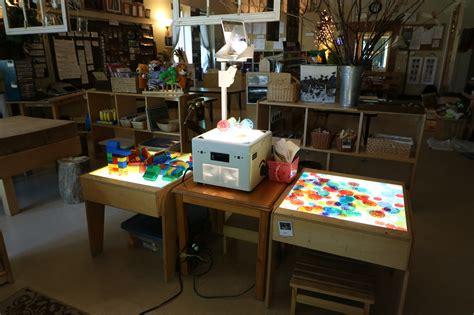reggio emilia light table setting up the 3rd a peek into nammi s classroom