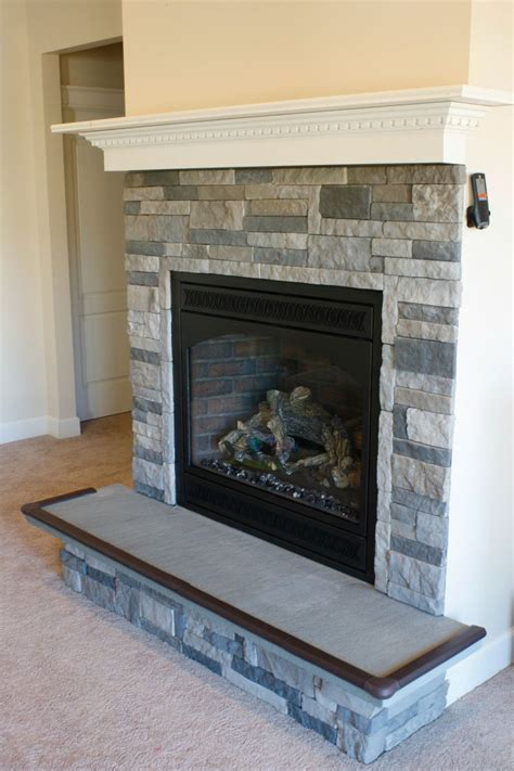 diy fireplace bluestone hearth home ideas