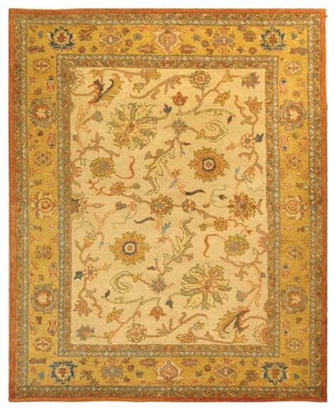 Yellow And Brown Area Rugs Antiquities Brown Yellow Area Rug At25a Traditional Area Rugs By Zopalo