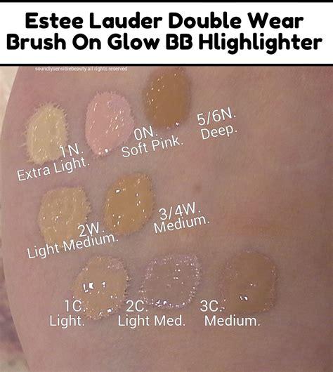 estee lauder double wear light swatches estee lauder double wear brush on glow highlighter pen
