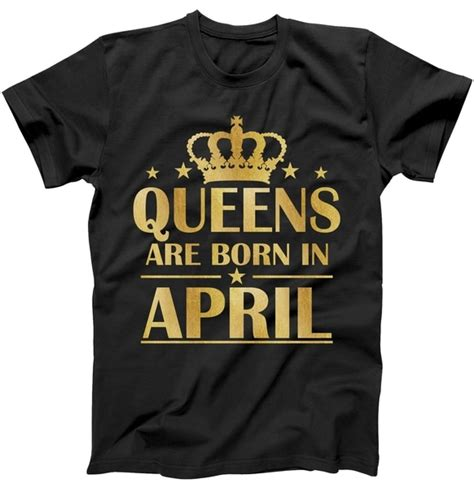limited edition are born in april gold foil print t shirt teeshirtpalace