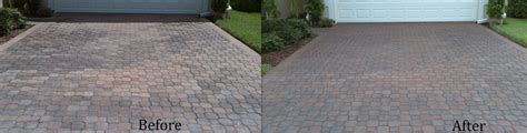 pool deck pavers fort myers before after photos brick paver sealing cleaning