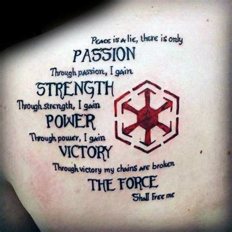 sith code tattoo 20 sith symbol designs for wars ink ideas