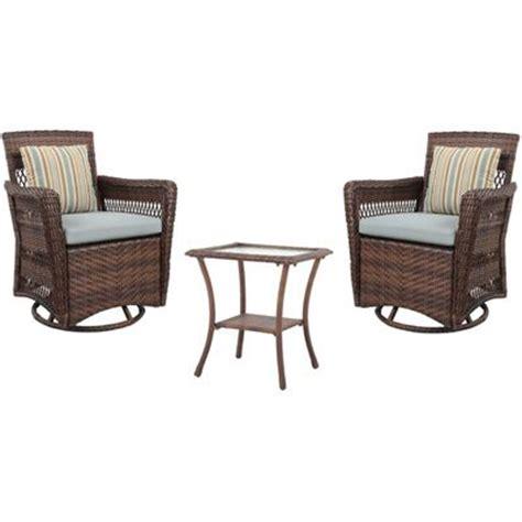 Patio Chairs Meijer Brookshire 3 Resin Wicker Patio Conversation Set