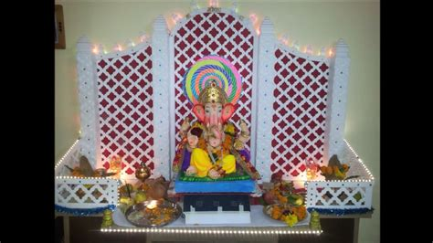 ganpati decoration idea  home youtube