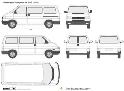 Maxi Color Box 4 In1 the blueprints vector drawing volkswagen