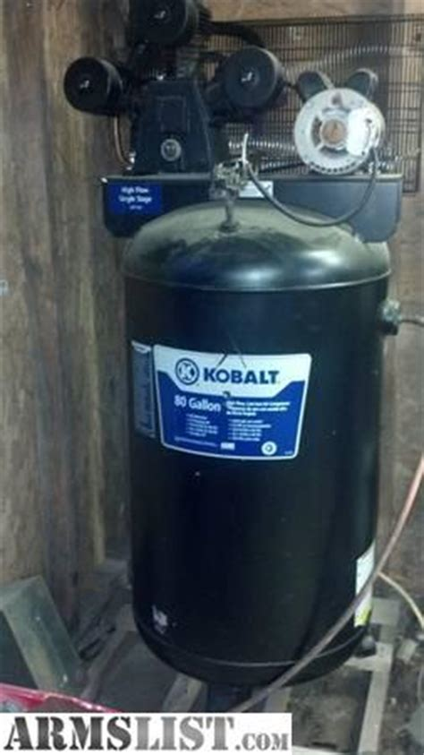 armslist for trade kobalt 5 hp 80 gl air compressor like new 2to3 hr run time on it