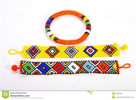 beaded armband two brightly colored zulu wristbands with beaded armband