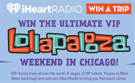 Lollapalooza Sweepstakes 2017 - win a trip to lollapalooza festival in chicago sweeps invasion