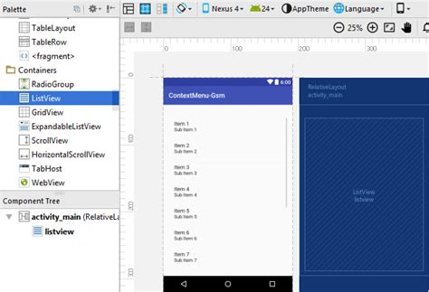 context menu layout android آموزش برنامه نویسی اندروید با اندروید استودیو بخش پنجاه و
