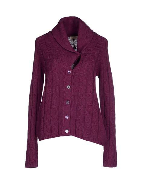 Purple Cardigan lyst cruciani cardigan in purple