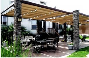 Creative outdoor patio shades awnings from retractable