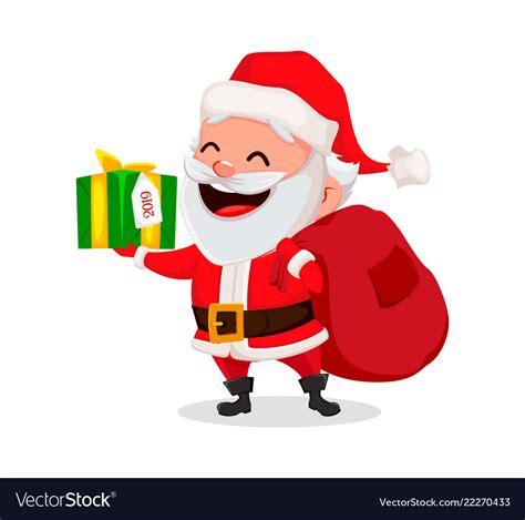 merry christmas funny santa claus royalty  vector image