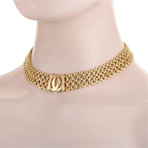 Choker Penta Gold Rings Choker cartier gold choker necklace at 1stdibs