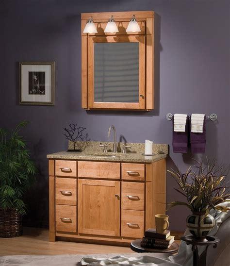 Bathroom Vanities Brton Woodpro Cabinetry Monterey Collection 42 Quot Vanity Ensemble With Shaker Door Drawers In Maple