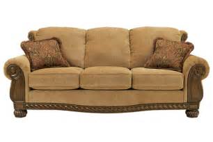 Wood Trimmed Sofas Ashley Sofa With Wood Trim Quotes