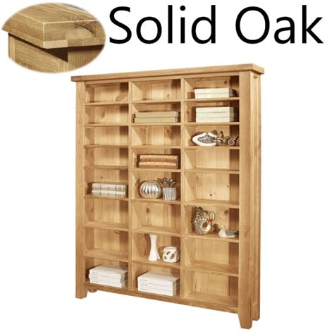 Oak Dvd Storage Cabinet Lyon Solid Oak Furniture Large Cd Dvd Media Storage Cabinet Rack Shelves Ebay