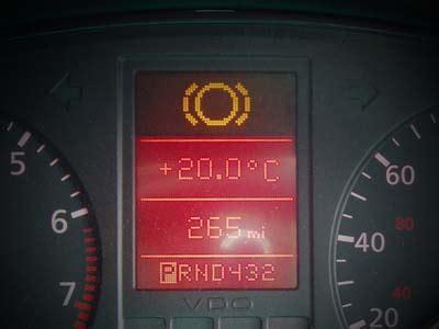 audi a4 brake warning light audipages front brake pad warning light troubleshooting