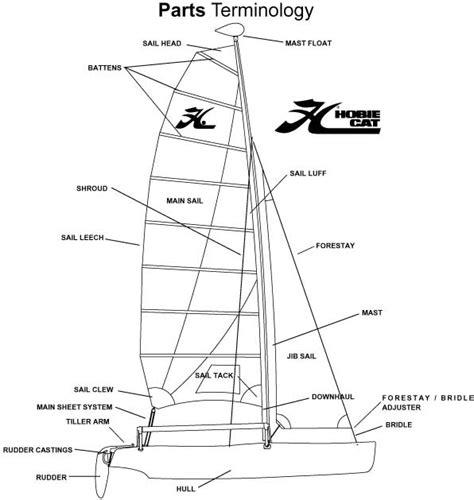 catamaran boat parts hobie 17 support hobie