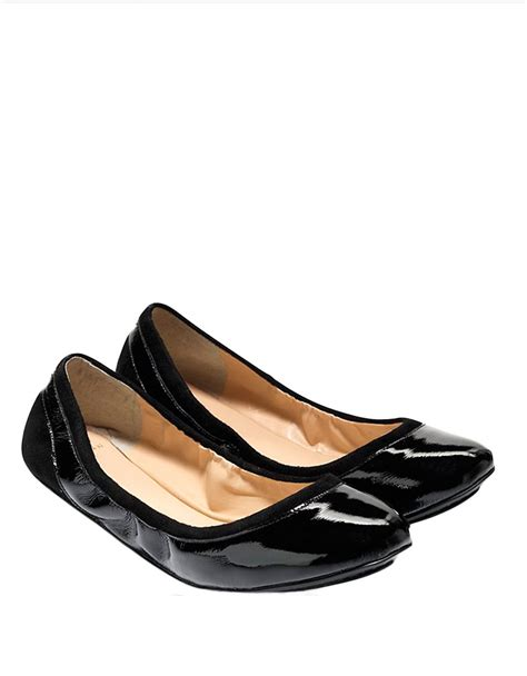 cole haan flat shoes lyst cole haan avery ballet flats in black