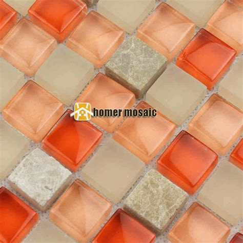glass mosaic tiles white and orange mixed crystal glass popular stone mosaics buy cheap stone mosaics lots from