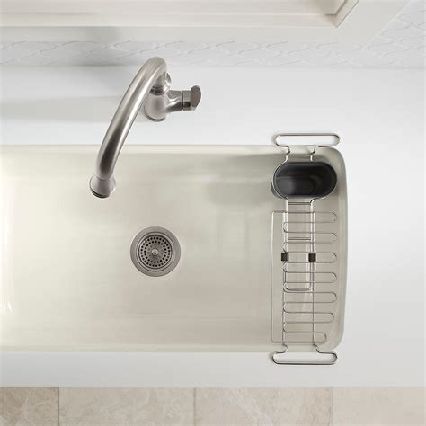 Kitchen Sink Drain Rack Kohler Chrome Kitchen Sink Utility Rack The Container Store