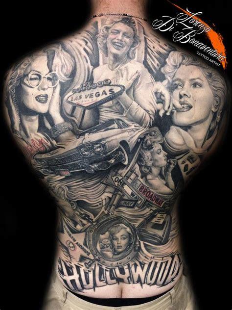 full back piece by watsun atkinsun tattoonow marilyn monroe back piece by lorenzo di bonaventura