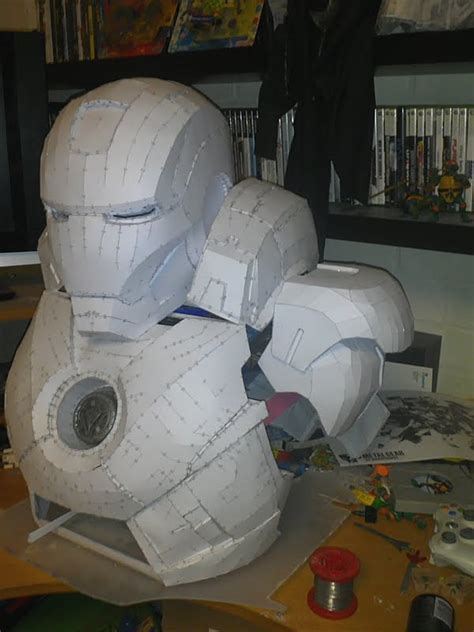 How To Make A Mascot From Paper Mache - ironman by rensole2k4 on deviantart