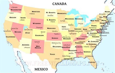 a map of the usa states and capitals us map states with capitals us map with capital cities