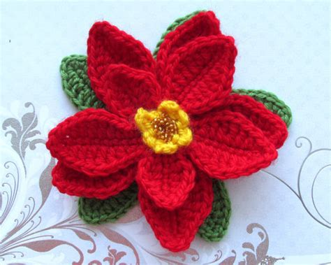 pattern crochet poinsettia search results for crochet poinsettia flower pattern