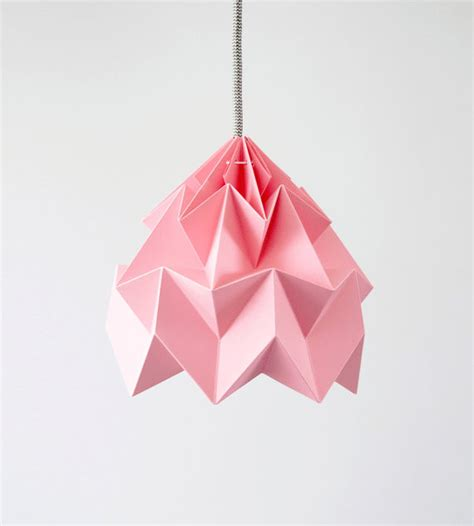 origami light shade moth origami lshade pink by studio snowpuppe modern