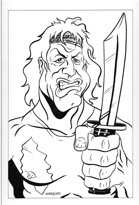 rambo coloring book for sale rambo caricature by anthonymarques on deviantart
